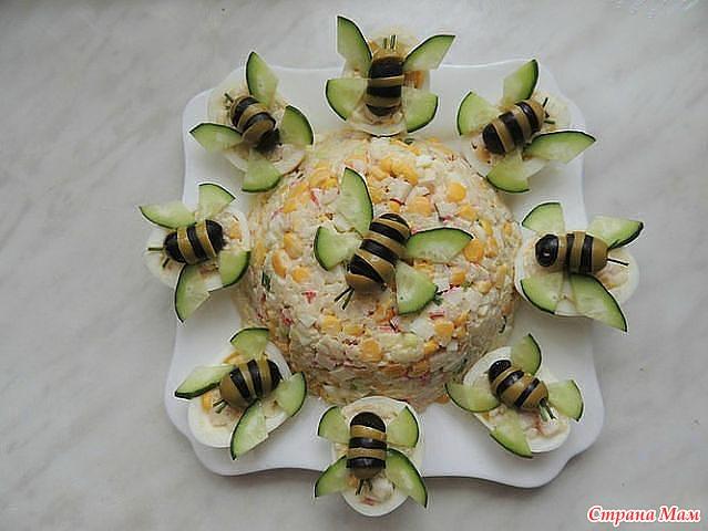 Украшение для салата оливками фото