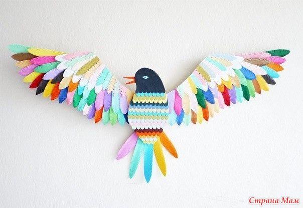 Как сделать с детьми птиц из бумаги
