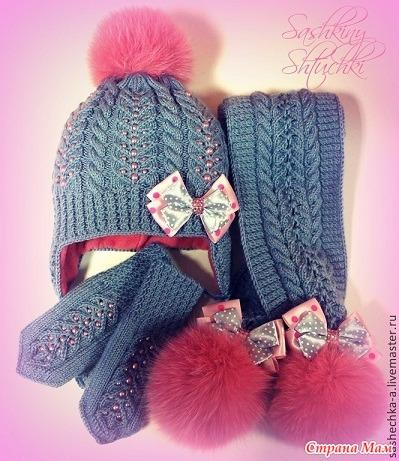Вязание зимних шапок шарфов и варежек