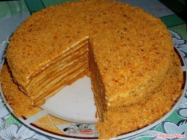 Испечь торт медовый в домашних условиях
