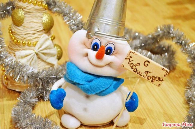 Снеговик своими руками мастер класс из капроновых колготок
