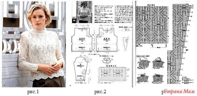 Описание схем вязания спицами из японских журналов 189