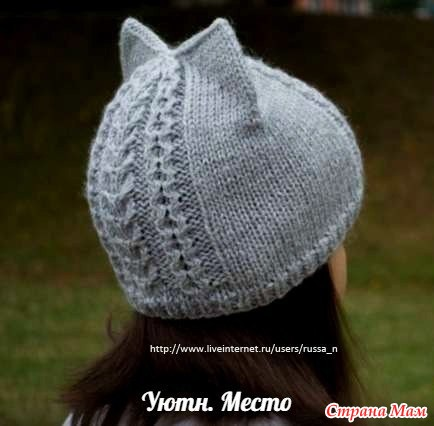 Как связать шапку спицами для мамы