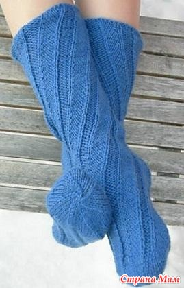 Как просто вязать детские носки