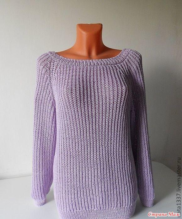 Вязание английской резинкой на пуловеры