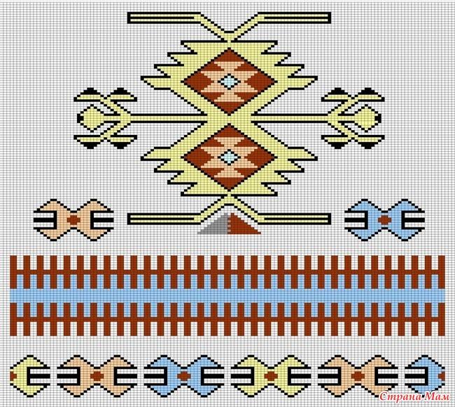 Перуанские узоры вязания