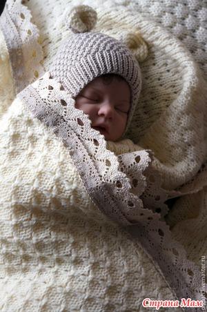 Из какой пряжи связать плед для новорожденного