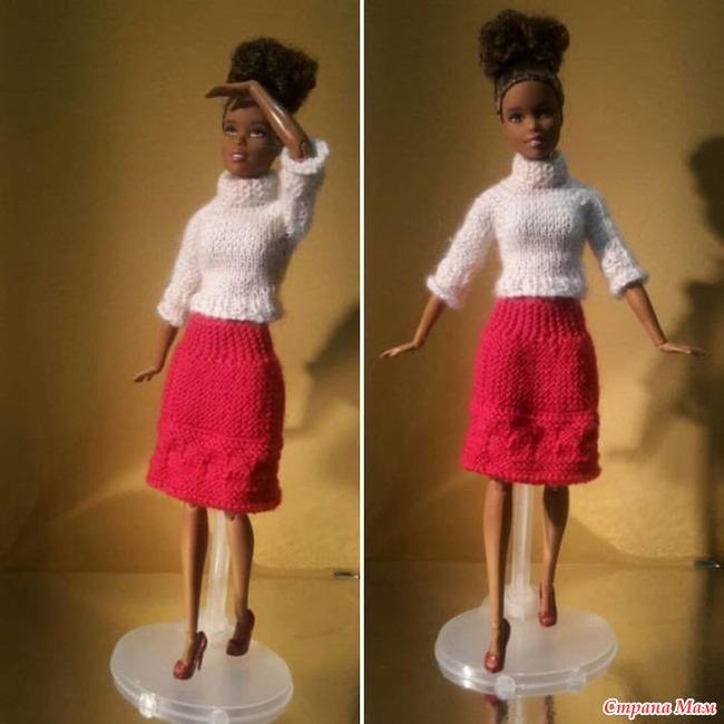 Вязанные Юбки Для Кукол Барби