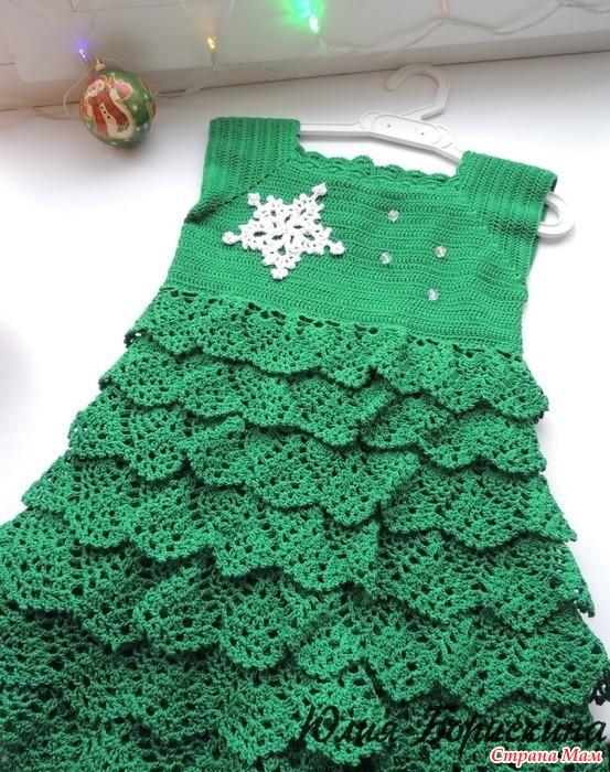 Вязание платье из елочки