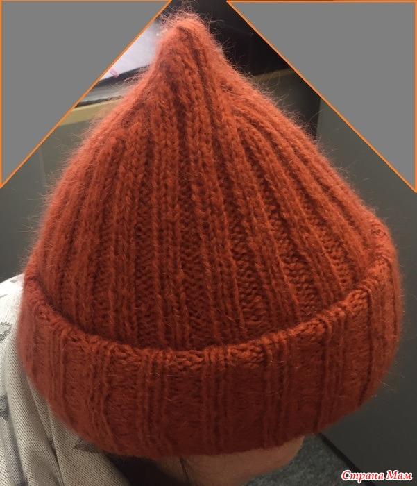 Вязание спицами шапки конуса