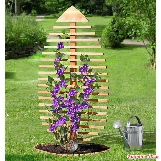 Деревянная опора для цветов