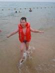 мой любимый внук на море