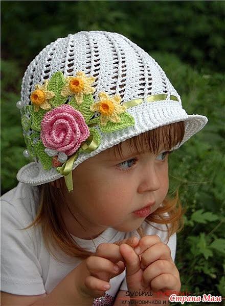 Вязаные шляпки детские