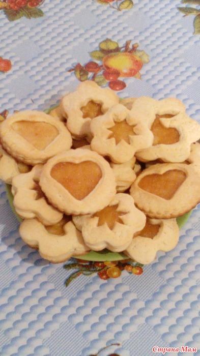 Песочное печенье рецепт с фото пошагово с вареньем