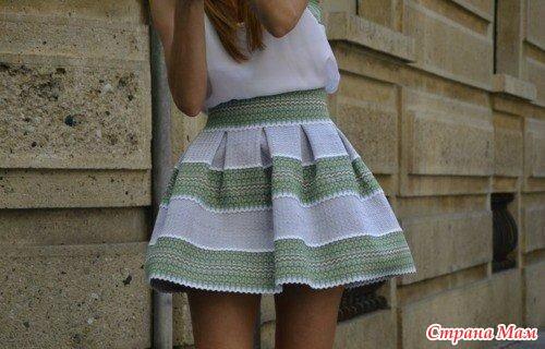 Как сделать складку при вязании спицами