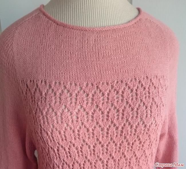 вязание пуловер дропс