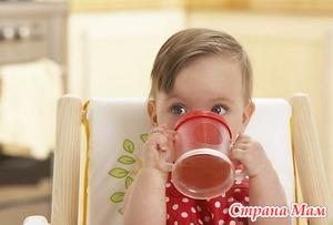 Какими напитками можно поить детей до трех лет