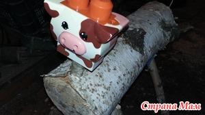 Корова из чурбака берёзы