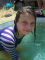 Стефа в бассейне на даче