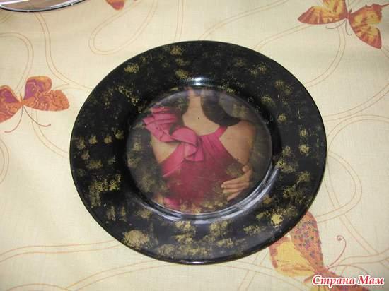 тарелка и девушка