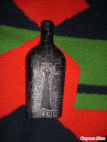 Бутылка с девушкой