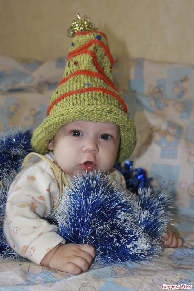Новогодняя шапка Елочка - Вязание - Страна Мам