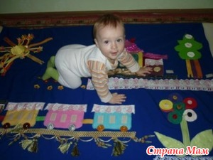 Развивающий коврик своими руками