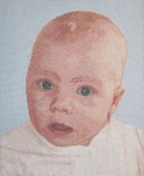 Бабушке на память:вышитый портрет младшего внука