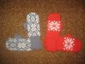 Варежки по заказу, машинное вязание