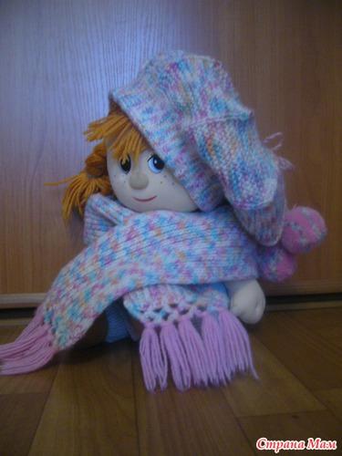 Берет и шарфик для дочки
