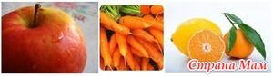 Салат из морковки с яблоком и апельсином