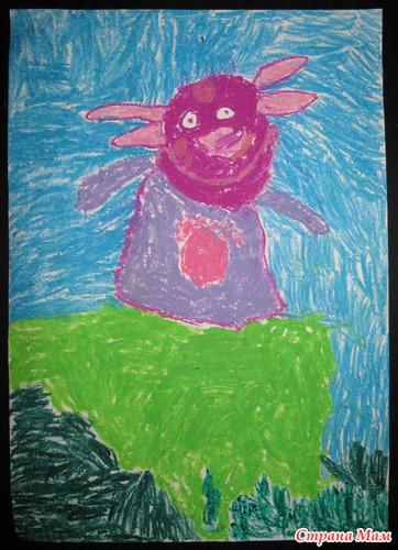 Даша, 4г. А ножки у него в траве или Лунтик-девочка.