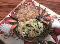 Острая куриная отбивная с салатом
