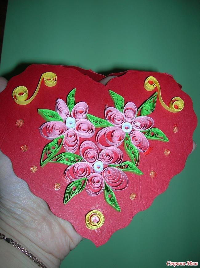 Для, открытки квиллинг к дню валентина