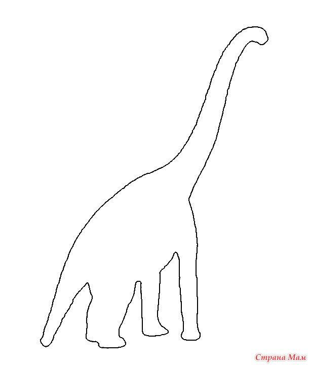 Распечатать картинки динозавров для аппликации
