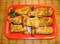Филе пангасиуса запечённое в слоёном тесте.