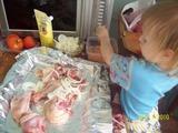 Как доча куРку готовила)))