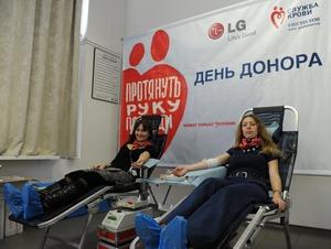 LG Electronics повторно проводит День донора в Сервисном представительстве