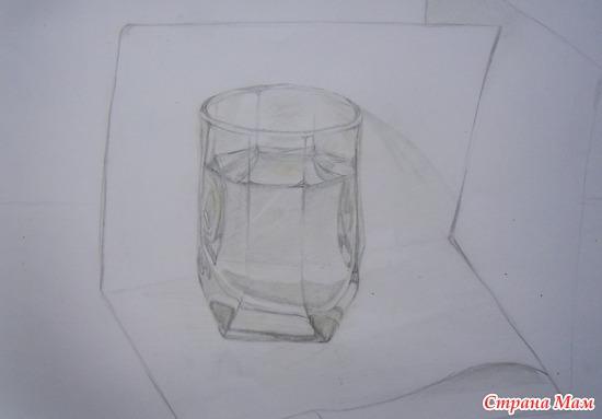 Стакан с водой (карандаш): фотография в альбоме Мои ...