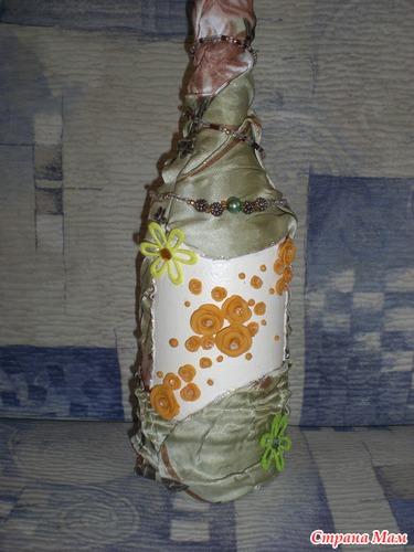 бутылка цветы