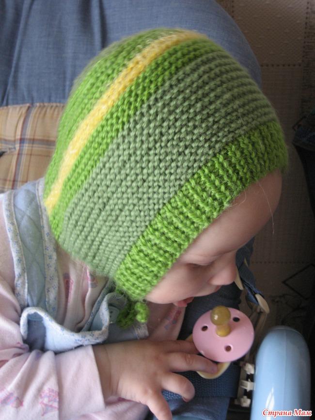 шапочка чепчик для малышей вязание страна мам