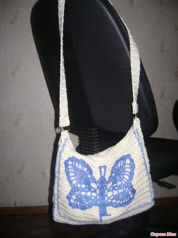 8e174189158d эта моя первая вязаная сумка, для прогулки с ребенком обычно ее использую!