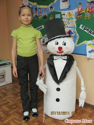 """Мой МК """"Как сделать снеговика"""""""