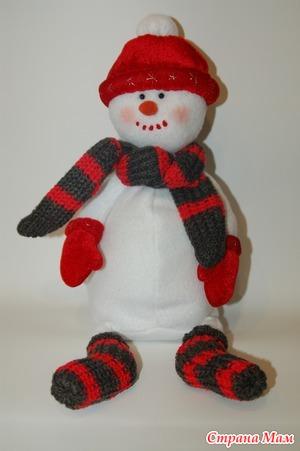 Игрушка снеговик с сюрпризом. Мастер-класс по пошиву
