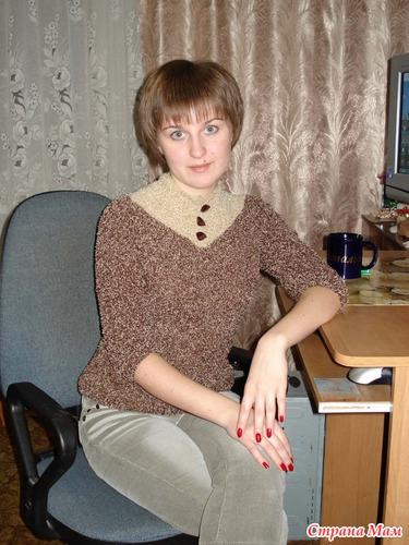 Пуловер, букле