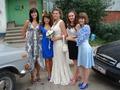 Вязаное свадебное платье и синяя болерошка - мои творения