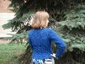 Синий жакет, спина.