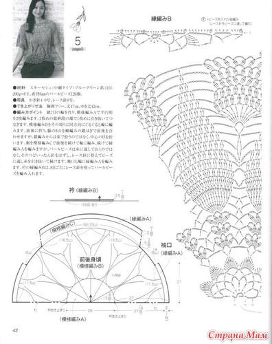 Схема к ажурному пуловеру 1