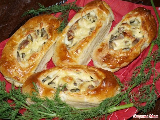 Лодочки с мясом из слоеного теста рецепт пошагово 56