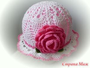 Ажурная шапочка по мотивам Наташи Подаковой